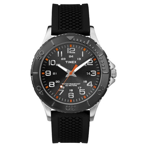 Men's Timex Watch with Silicone Strap - Black TW2P872009J - image 1 of 1