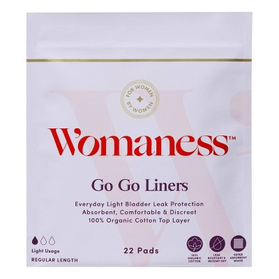Womaness Go Go Panty Liner - 22ct