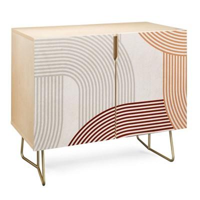Iveta Abolina Mid-Century Modern Line Art I Credenza - Deny Designs