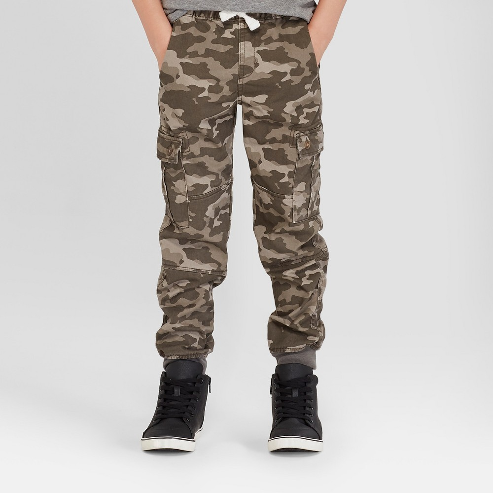Boys' Jogger Pants - Cat & Jack Camouflage 12 Husky