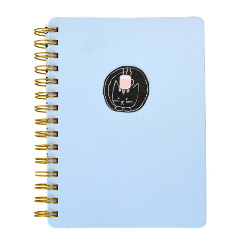 Cats & Coffee 1 Subject College Ruled Spiral Notebook Light Blue - Gartner Studios - image 1 of 3