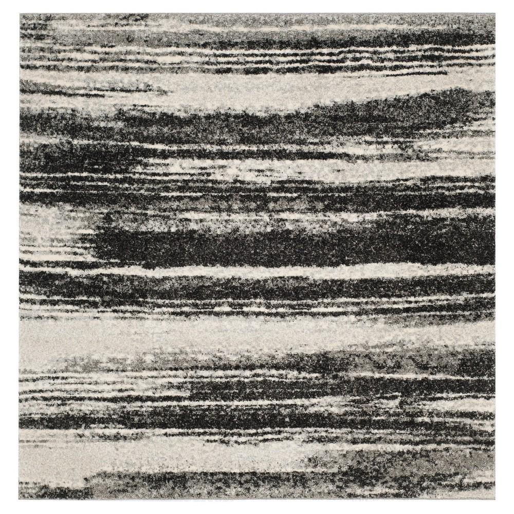 Ulla Area Rug - Dark Gray / Light Gray (8' X 8') - Safavieh