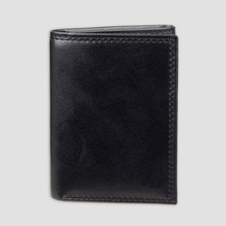 Men's Faux Leather Regular Trifold Wallet - Goodfellow & Co™ Black One Size