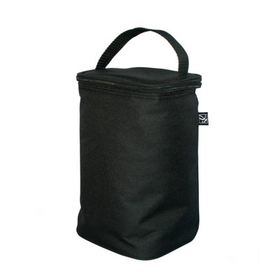 JL Childress Two Cool Double Bottle Bag with Ice Pack - Black