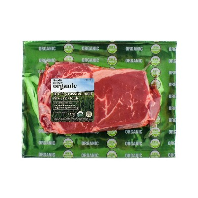 Organic 100% Grassfed Ribeye Steak - 0.5-0.75 lbs. - price per lb - Good & Gather™