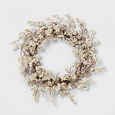 Wreath Mixed White Berry - Threshold™
