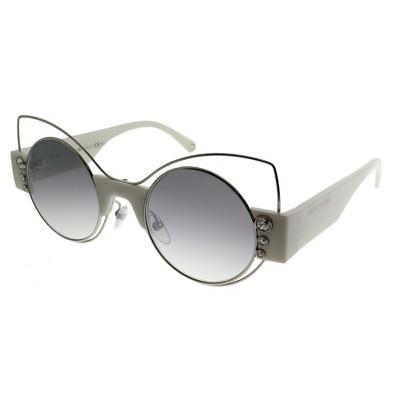 Marc Jacobs Marc 1/S U4X Womens Cat-Eye Sunglasses Silver Ivory 49mm