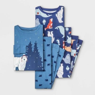 Boys' 4pc Polar Bear Pajama Set - Just One You® made by carter's Navy