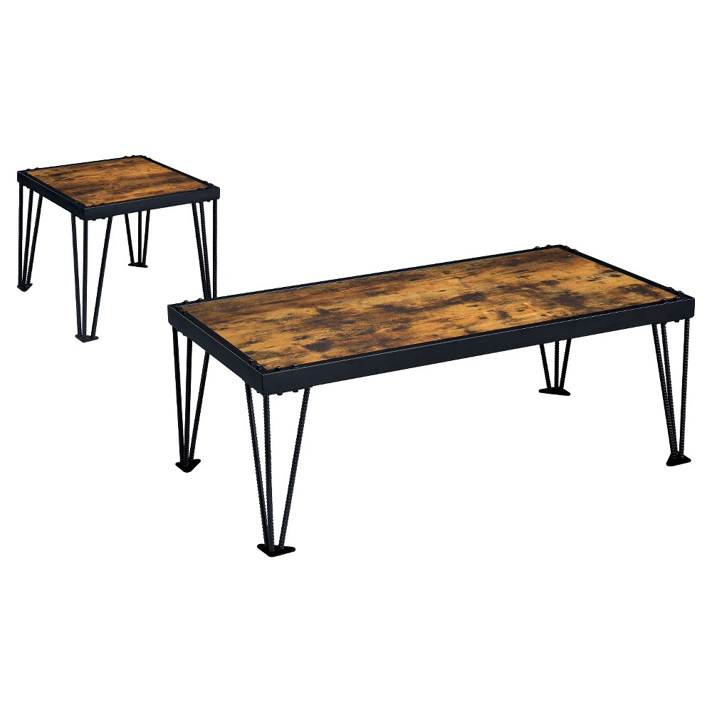 Image of 2pc Carolin Occasional Table Set Black - ioHOMES