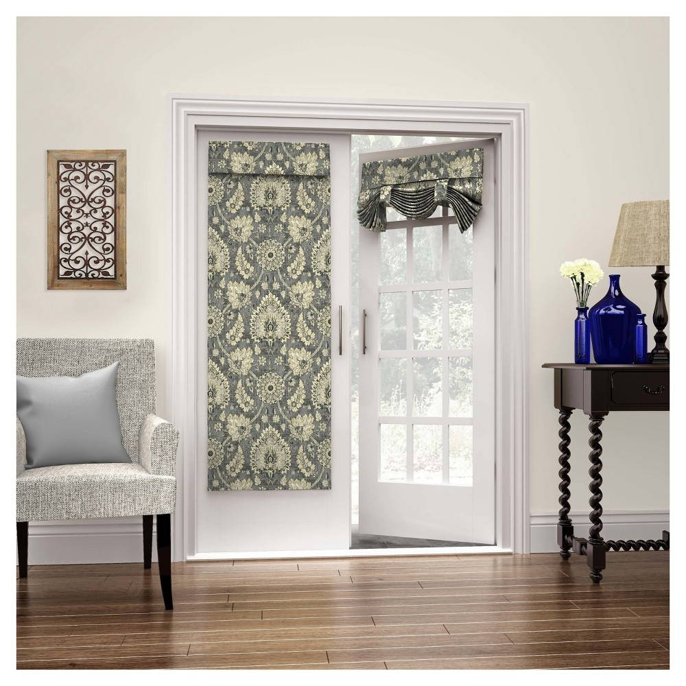 Clifton Hall French Floral Blackout Door Panel Flax (26