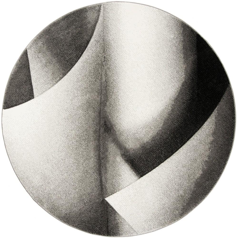 67 Geometric Loomed Round Area Rug Gray - Safavieh Discounts