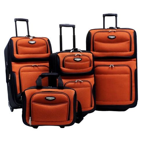 Traveler's Choice Amsterdam 4pc Travel Luggage Set - Orange - image 1 of 2