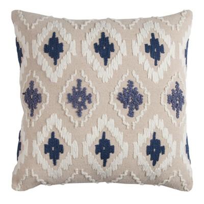"""20""""x20"""" Geometric Diamond Textured Throw Pillow - Rizzy Home"""