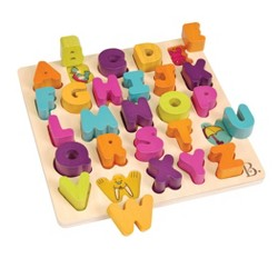 B. toys Wooden Alphabet Puzzle - Alpha-B.-Tical 27pc