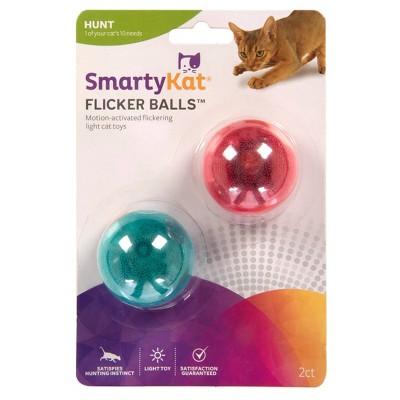 SmartyKat Flicker Balls Cat Toy - 2pk