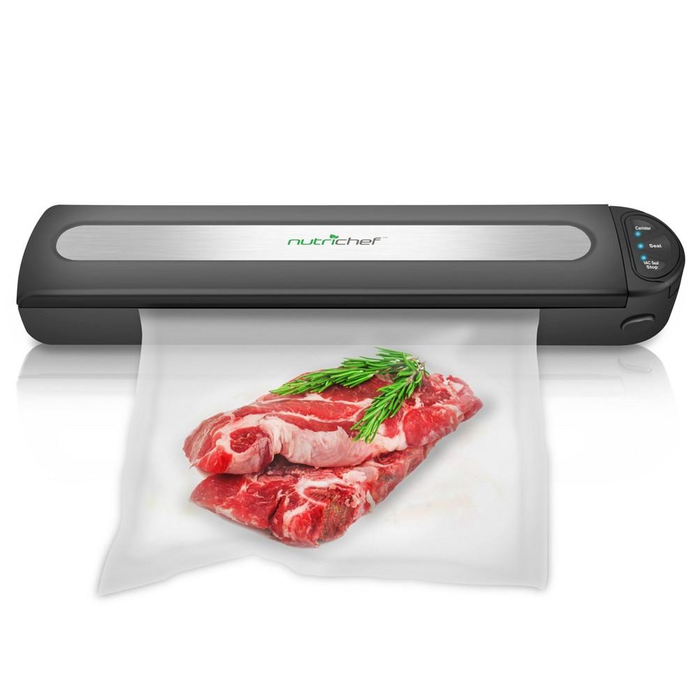 Image of The NutriChef Compact Digital Food Vacuum Sealer, Black