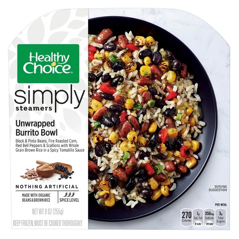 Healthy Choice Simply Organic Unwrapped Frozen Burrito Bowl - 9.25oz - image 1 of 1