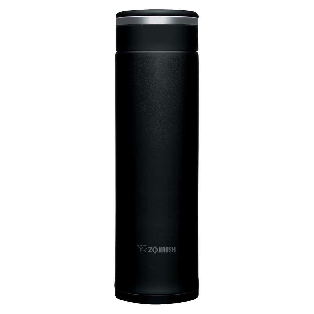 Image of Zojirushi 16oz Stainless Steel Vacuum Bottle with SlickSteel Finish - Black