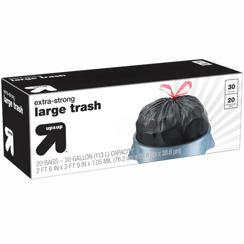 Extra-Strong Large Drawstring Trash Bags - 30 Gallon - 20ct - Up&Up™ - image 1 of 1