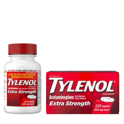 Tylenol Extra Strength Pain Reliever & Fever Reducer Caplets - Acetaminophen - 225ct
