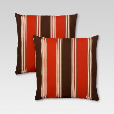 Rolston 2pc Outdoor Toss Pillow Set - Red Stripe - Threshold™
