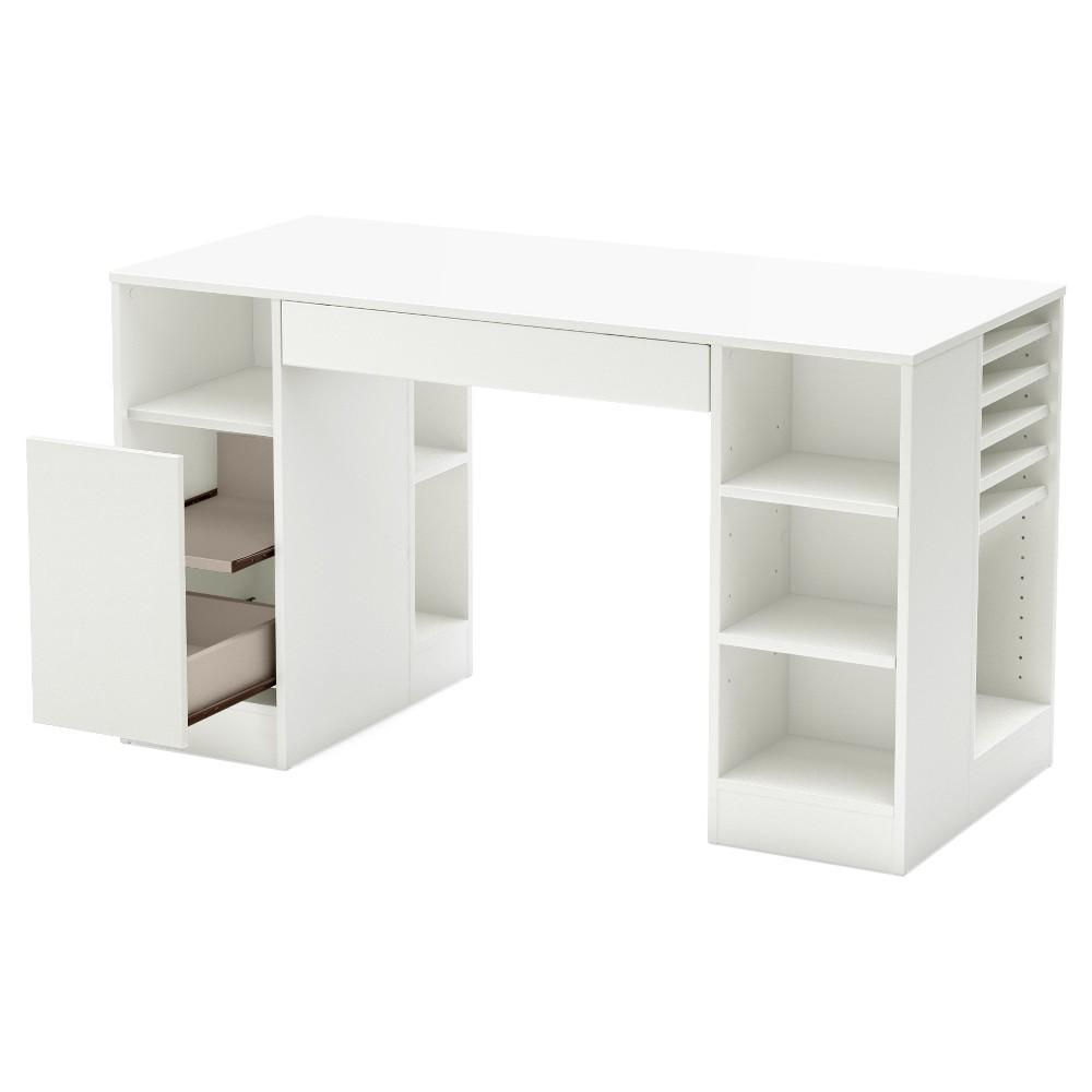 Crea Craft Table - Pure White - South Shore