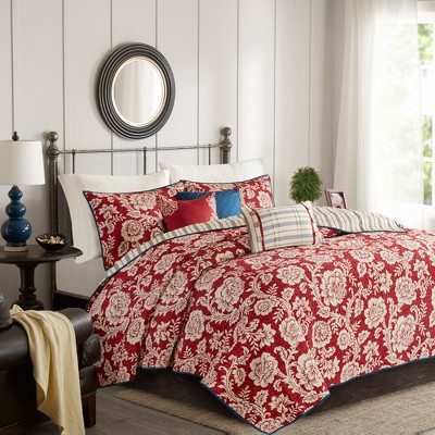 Rose Cotton Twill Reversible Coverlet Set