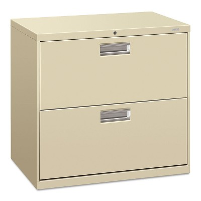 HON 600 Series Two-Drawer Lateral File 30w x 18d Putty 672LL