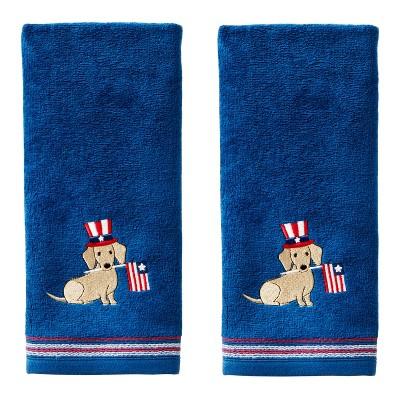 2pc Uncle Sam Hand Towel Set Navy - SKL Home