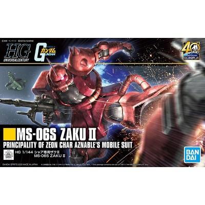 Bandai Hobby Gundam HGUC #234 MS-06S Zaku II Char Custom HG 1/144 Model Kit