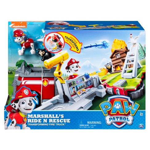 PAW Patrol Marshall s Ride  n  Rescue Transforming 2-in-1 Playset And Fire  Truck   Target c322042598