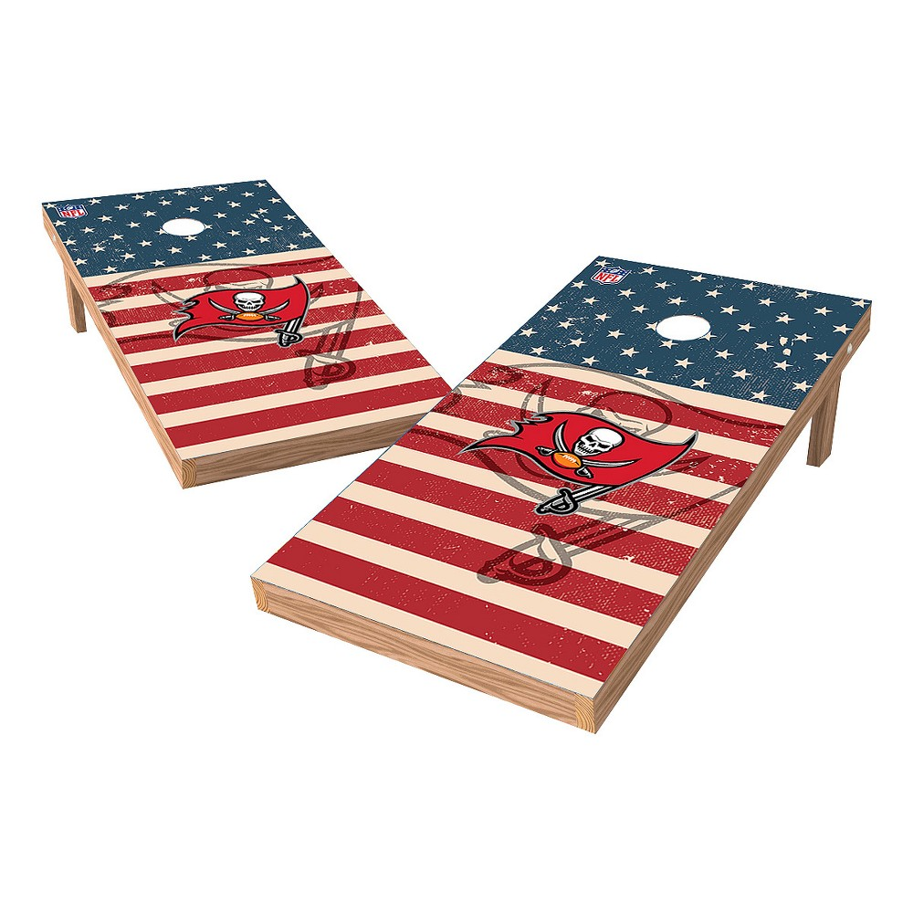 NFL Tampa Bay Buccaneers Wild Sports 2x4 Tailgate Toss Cornhole Shield - Stars and Stripes
