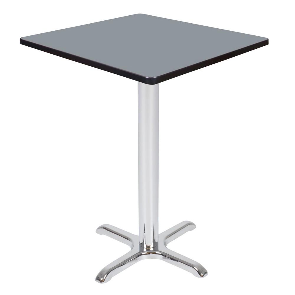 30 Via Cafe High Square X - Base Table Gray/Chrome (Gray/Grey) - Regency