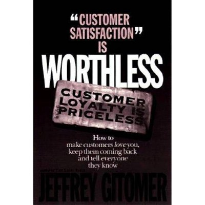 Customer Satisfaction Is Worthless Customer Loyalty Is Priceless - by  Jeffrey H Gitomer (Hardcover)