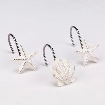 Sequin Shells Shower Hooks Buttercup - Avanti®
