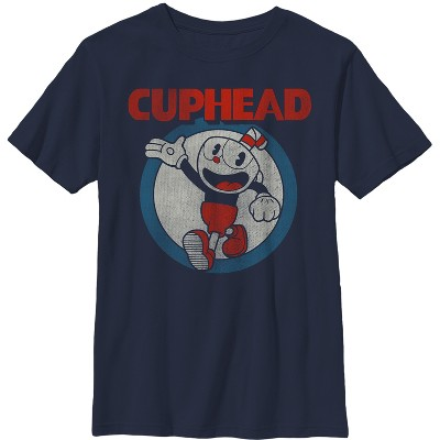 Boy's Cuphead Vintage Circle T-Shirt