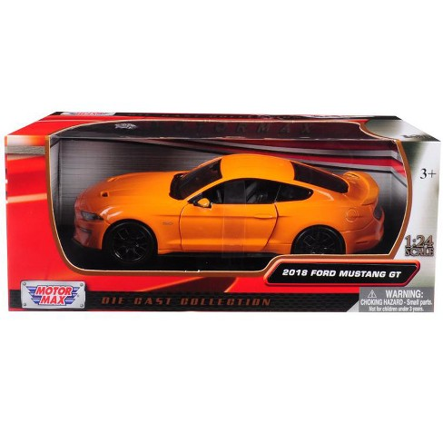 2018 Ford Mustang GT 5.0 Orange with Black Wheels 1/24 Diecast Model Car by Motormax - image 1 of 1