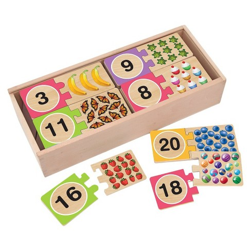 Melissa & Doug® Self-Correcting Wooden Number Puzzles With Storage Box 21pc - image 1 of 3