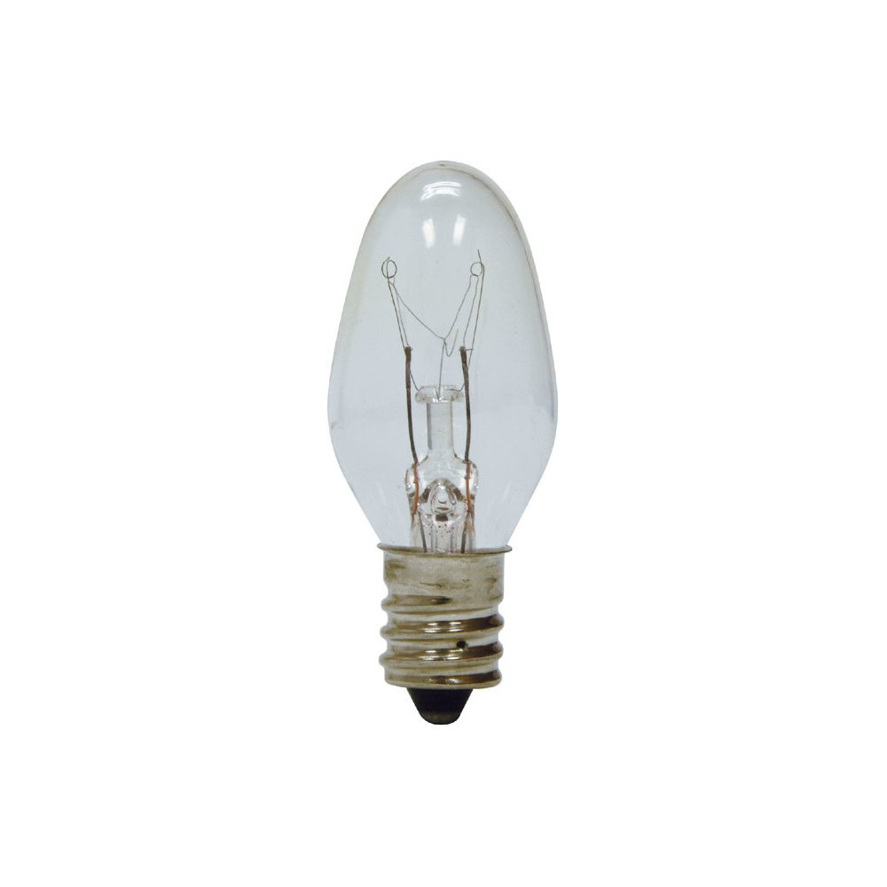 GE 4-Watt Nightlight Incandescent Light Bulb (4-Pack) - Clear GE Soft White LED Night Light Light C7 clear bulbs are designed to use in night light fixtures. Nightlights provide added comfort and security anywhere in your home. These bulbs can also be used for some signal and indicator lights, toys and appliances. Rated to last 1.8 years based on 3 hours use per day.