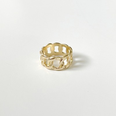 Sanctuary Project Statement Link Chain Ring Gold