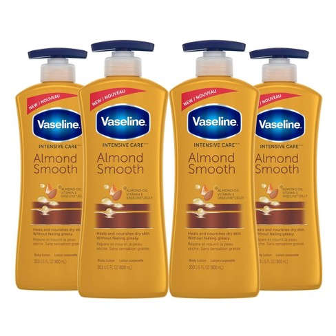 Vaseline Almond Smooth Lotion - 4ct/20.3 fl oz each - image 1 of 4