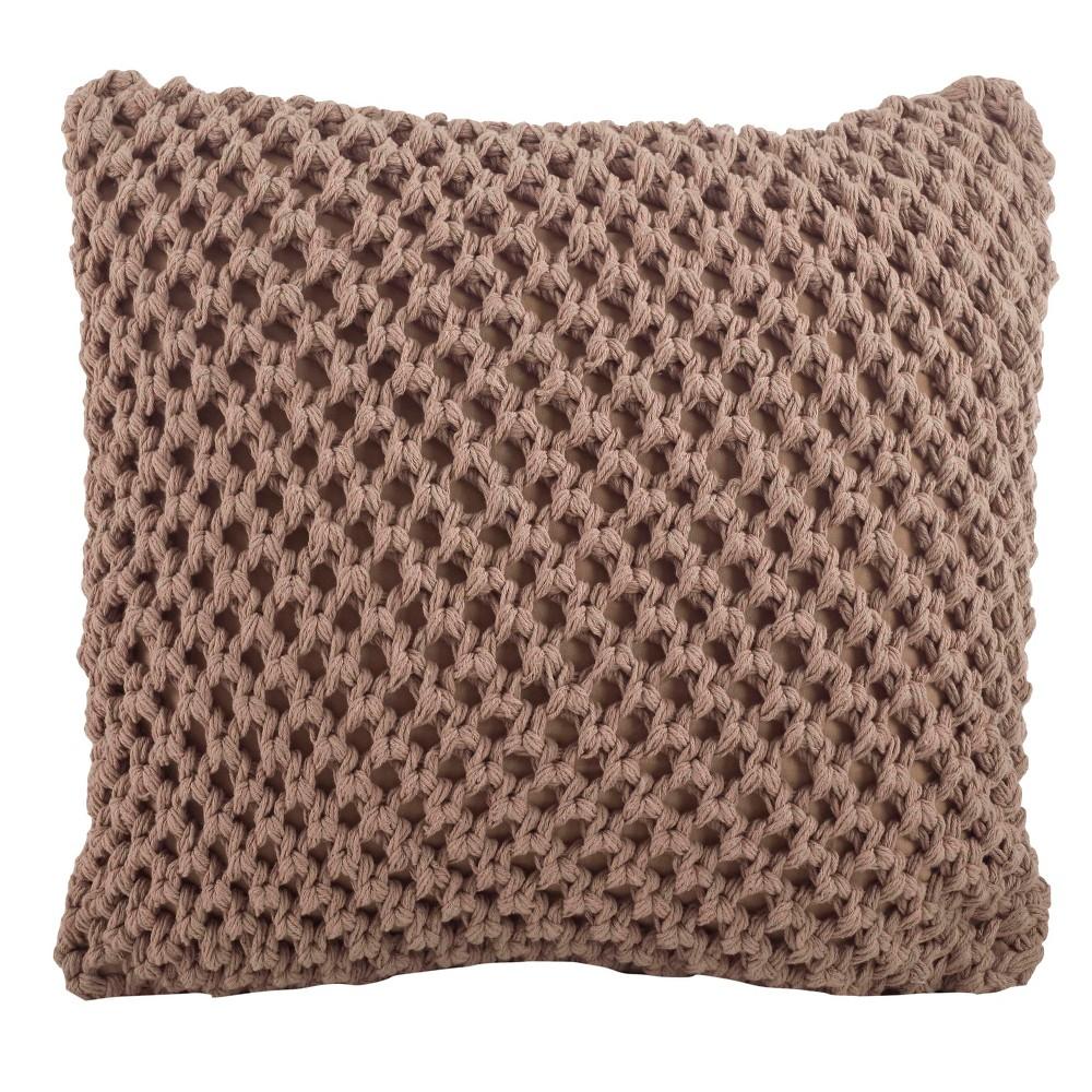 Knitted Design Throw Pillow (20