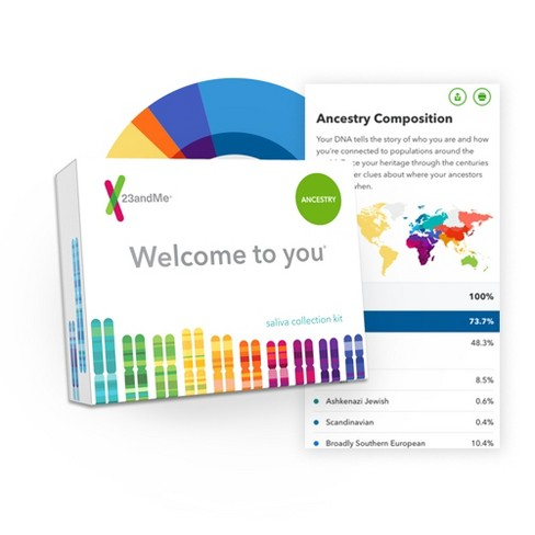 23andMe Personal Ancestry DNA Test Kit - Lab Fee Included