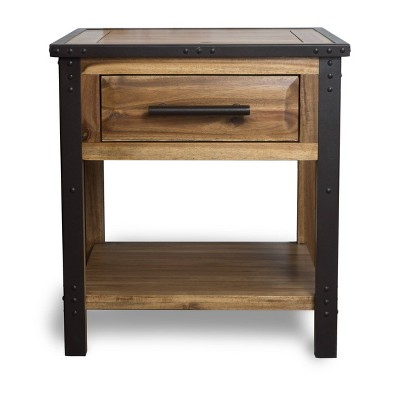 Luna Acacia Wood One Drawer End Table - Natural - Christopher Knight Home