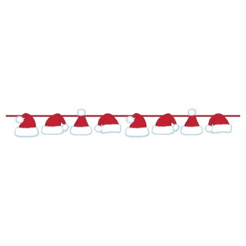 Santa Hat Ribbon Banner, each - image 1 of 1