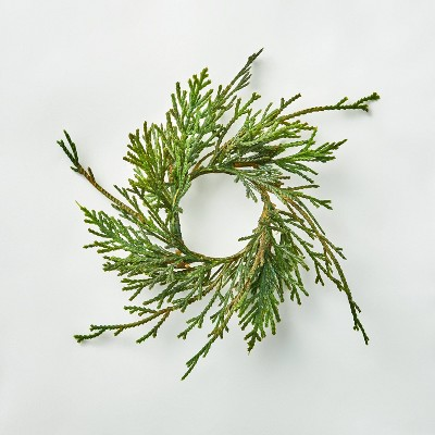 4pc Faux Cypress Greenery Napkin Ring Set - Hearth & Hand™ with Magnolia