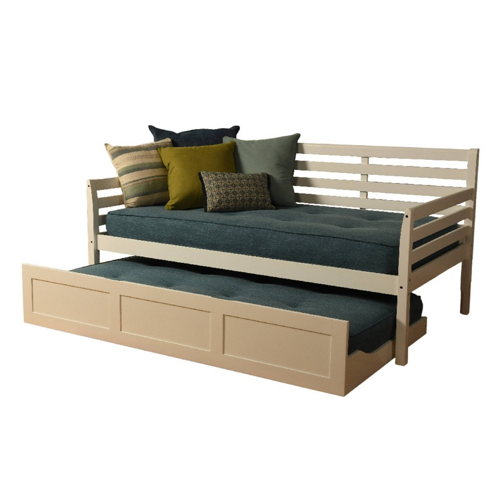 Yorkville Trundle Daybed Includes Mattresses Aqua (Blue) - Dual Comfort