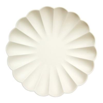 Meri Meri Cream Simply Eco Large Plates