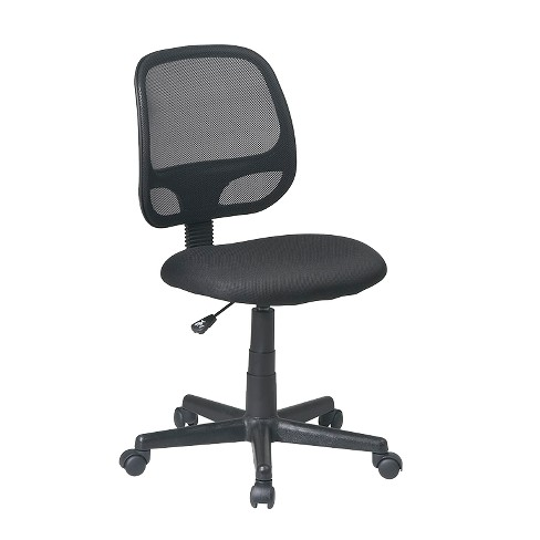 Screen Back Task Chair Black - Office Star - image 1 of 2