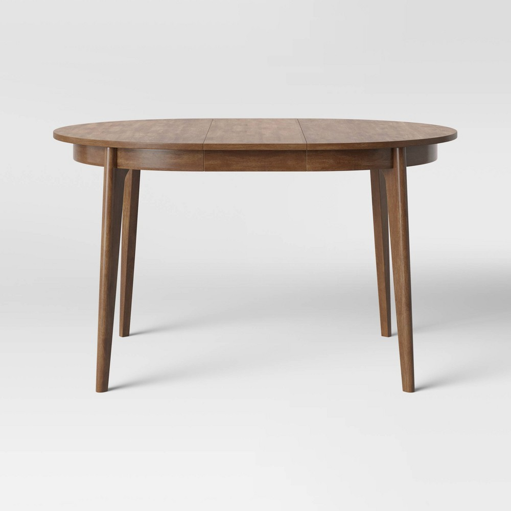 Astrid Mid Century Round Dining Table with Extension Leaf Brown - Project 62 was $300.0 now $150.0 (50.0% off)